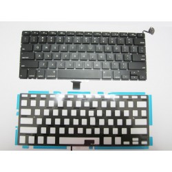"Tastatura Apple MacBook Pro Unibody 13"" A1278 2008-2012 neagra layout US cu retroiluminare noua"