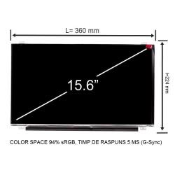 Display laptop AUO B156HAN04.2 15.6 inch 1920x1080 Full HD IPS 30 pini 120Hz 94% sRGB