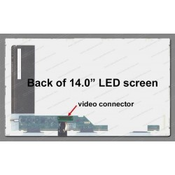 "Display Laptop Toshiba Satellite E200 14.0"" 1366X768 40Pin Led"